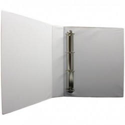 White 40mm Pres 4D-Ring Binder Pk10