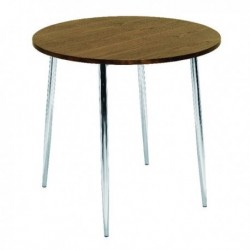 FF Arista Wnt Chrome Round Bistro Table