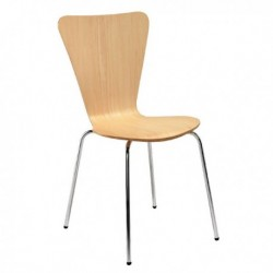 FF Arista Bch Slv Picasso Wood Chair Pk4