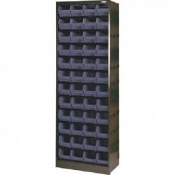 Dk.Gry/Blk Metal Bin Cupboard/48 Bins