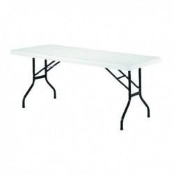 FF Jemini 1220mm Folding Rect Table Whit