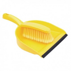 Yellow Dustpan and Brush Set 102940YL