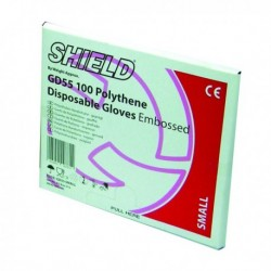 Shield Embossed Gloves Medium Pk100 Gd55
