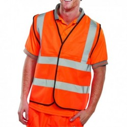 Hi-Viz Vest Orange EN ISO 20471 Lge
