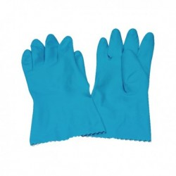 Caterpack Blue Medium Rubber Gloves Pk6