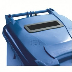Blue Confidential Wheelie Bin 140 Ltr