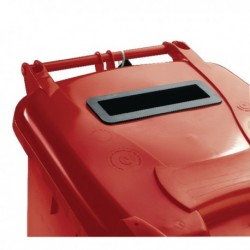 Confidential Waste Wheelie Bin 240Lt Red