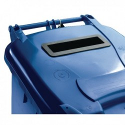 Blue Confidential Wheelie Bin 360Ltr
