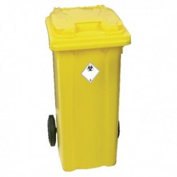 Yellow 2 Wheel Refuse Container 360 Ltr
