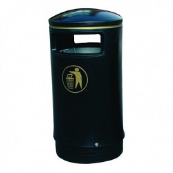 Blk Gld Victorian Hooded Top Bin 75Ltr