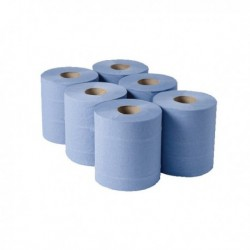 1 Ply Blue Centrefeed Pk6