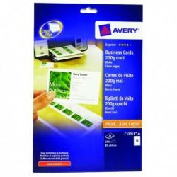 Avery Q/Clean B/Card 85x54mm C32011-25