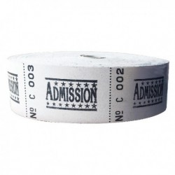 Roll Ticket Admission Assrtd 50022 ITAD