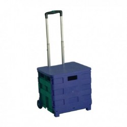 Folding Container Trolley/Lid Blue/Green