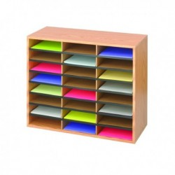 Safco 24 Part Literature Organiser Oak