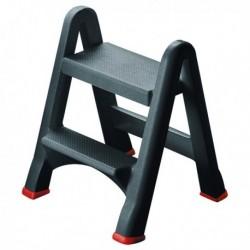 Folding Plastic Black Step Stool 333650