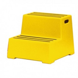 Yellow 2 Tread Plastic Safety Step