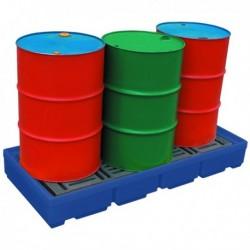 Pallet Sump 4 Drum Cap Blue 321623