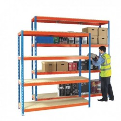 Orange/Zinc H/Duty 150x45cm Shelf 378850