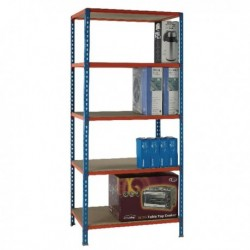 Blue/Orange 90x50cm Shelving Unit 378970