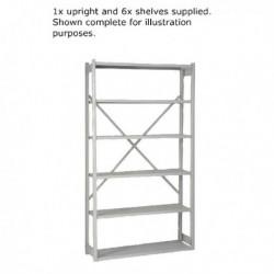 Bisley Shelving Extn Kit W100xD30cm Grey