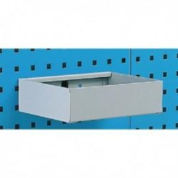 Plain 450mm Grey Metal Tray Shelf 306995