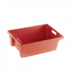Red Solid Stack/Nesting Container 200mm