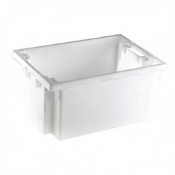 White Solid Slide Stack/Nestng Container