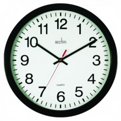 Acctim Controller 368mm Black Wall Clock