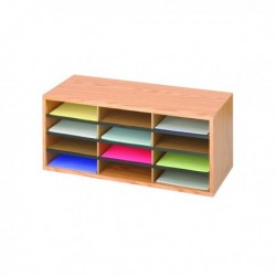 Safco Oak 12 Part Literature Organiser