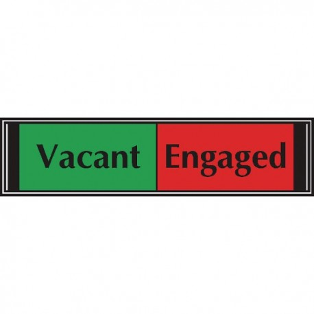 Sliding Sign Vacant/Engaged Self Adh