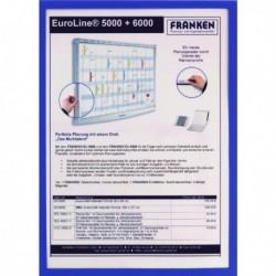Franken A4 Blue Document Holder Magn Pk5