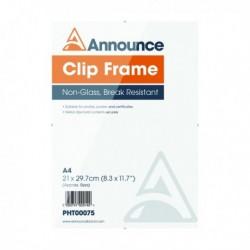 Announce A4 Metal Clip Frame