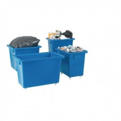 Swivel Blue 625X570X570mm Bottle Skip