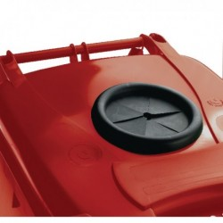 Red Wheelie Bin 240L Bottle Lid Lock