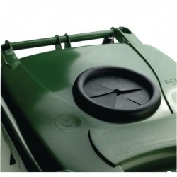 Green Wheelie Bin 240L Bottle Lid Lock