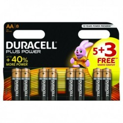 Duracell Plus Power AA Battery 1.5V Pk8