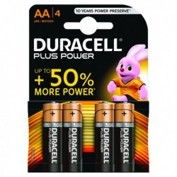 Duracell Plus AA Battery Pk4