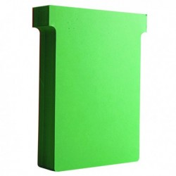 Nobo T-Card Size 3 Light Green Pk100