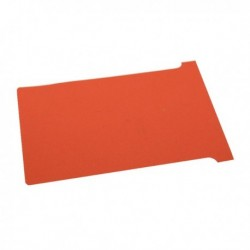 Nobo Red T-Card Size 3 Pk100