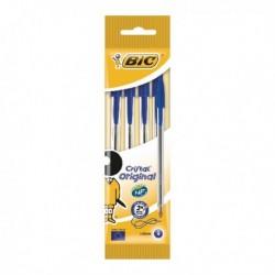 Bic Blue Cristal Ball Point 4 Pen Pk40