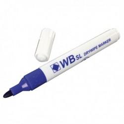 Bullet Tip Blue Whiteboard Marker Pk10