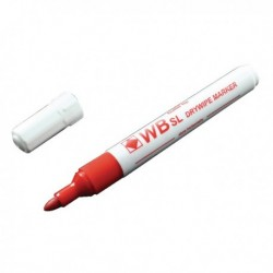 Red Bullet Whiteboard Marker Pens Pk10