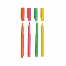 Assorted Highlighter Pens - Pk4
