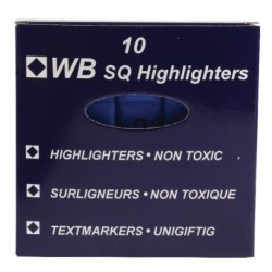 HiGlo Blue Highlighter Pens PK10