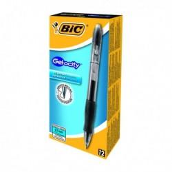 Bic Gelocity Rtrct Gel Pen Med Blk Pk12
