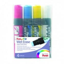 Pentel Liquid Chalk Marker Jumbo Asd Pk4