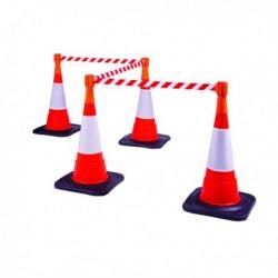Orange Traffic Cone Retractable Web Belt