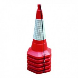 Red 750mm Std One Piece Cone Pk5