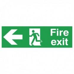 Fire Exit Arrow Left 150x450mm PVC Sign